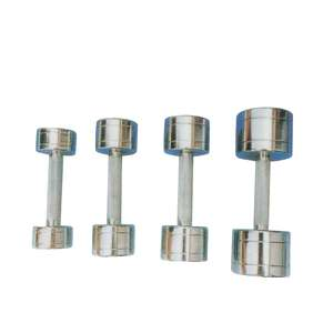 CHROME DUMBBELL WITH SLOTS