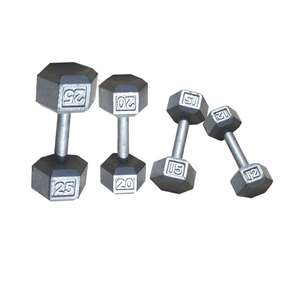 GREY HAMMERTONE HEX DUMBBELL